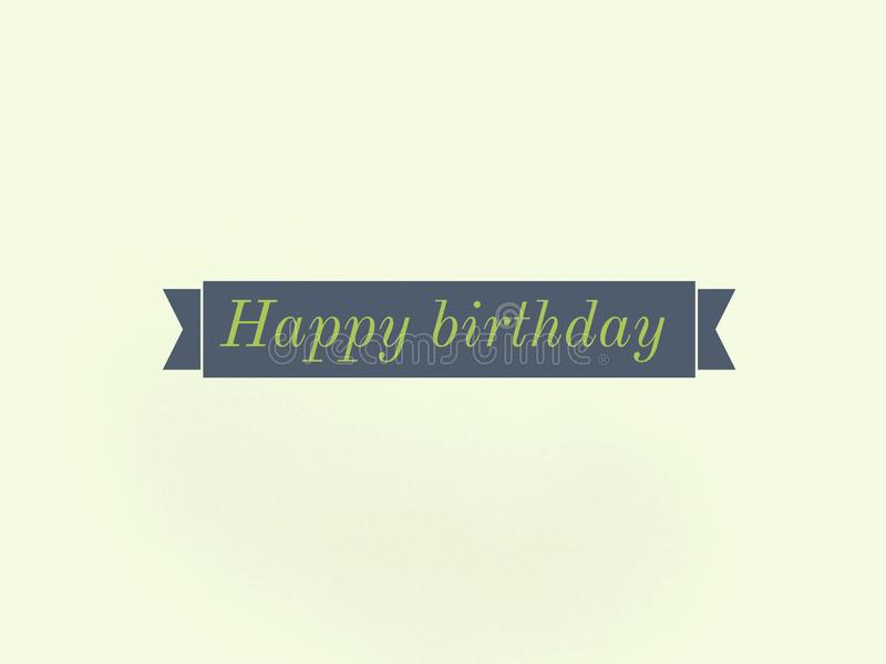 Label de souhait de joyeux anniversaire avec la couleur grise illustration libre de droits