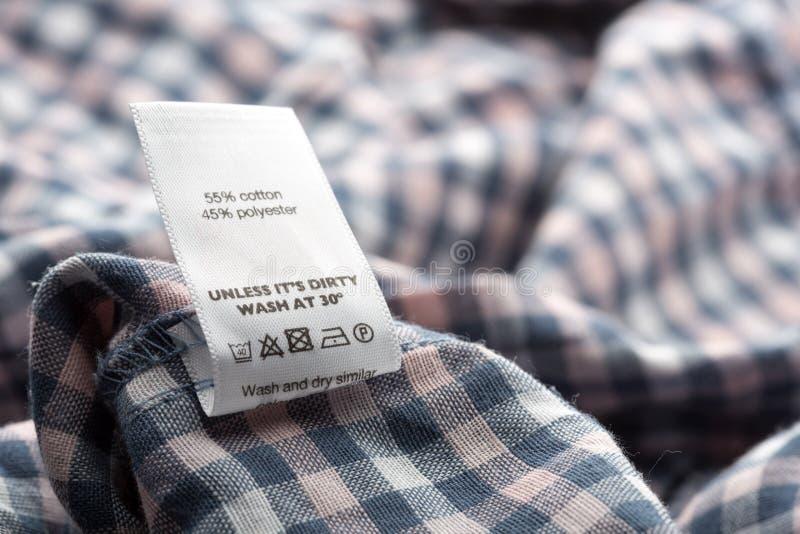 Label de tissu images libres de droits