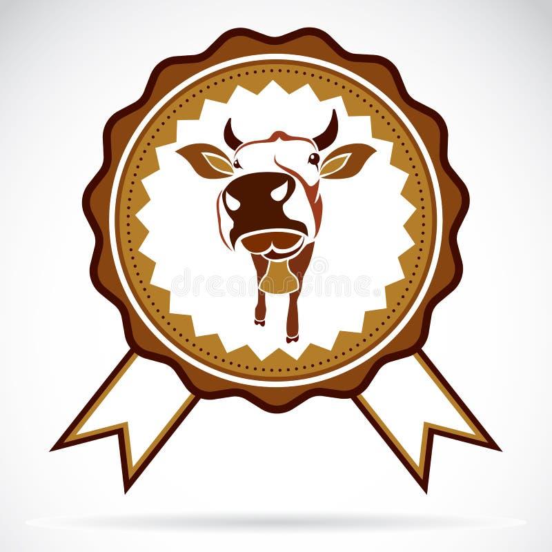 Label de vache illustration stock