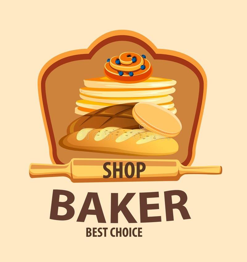 Label de vecteur de pain illustration stock