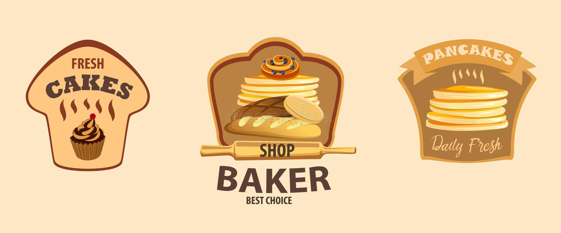 Label de vecteur de pain illustration de vecteur