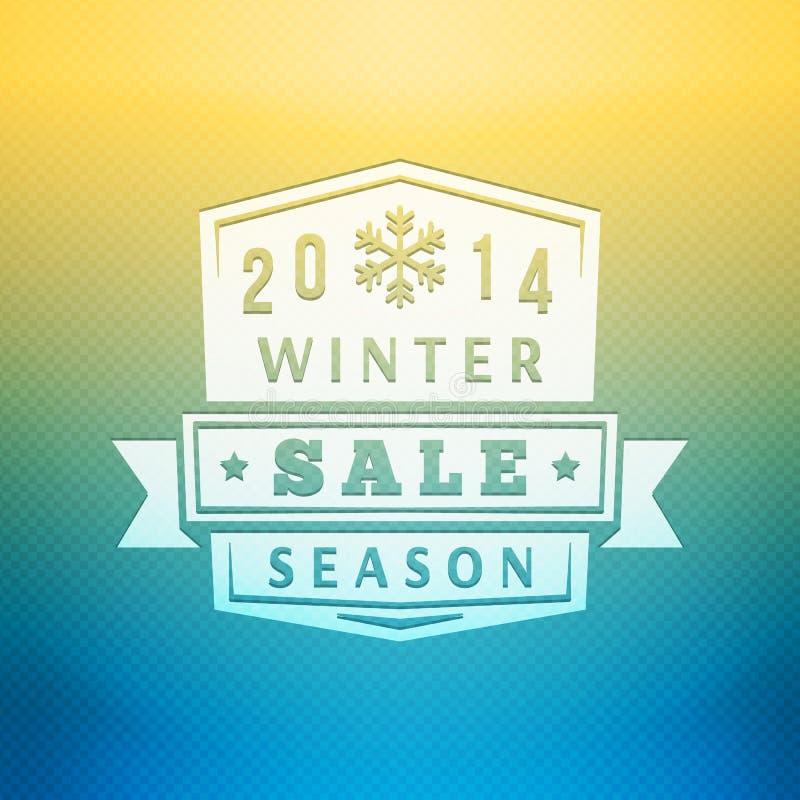 Label de vente de 2014 hivers sur le vecteur brouillé illustration de vecteur