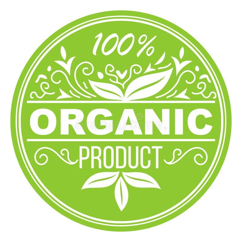 Label de vert de produit biologique illustration de vecteur