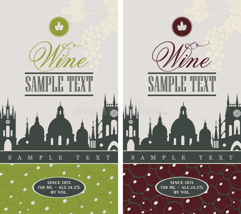 Label de vin illustration stock