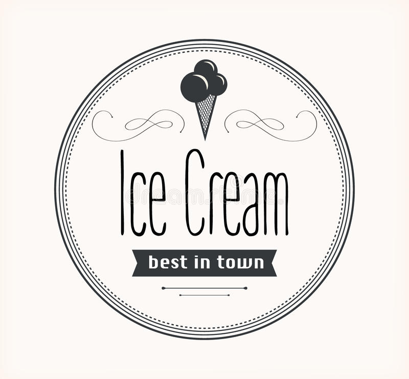 Label de vintage de crème glacée rétro illustration de vecteur