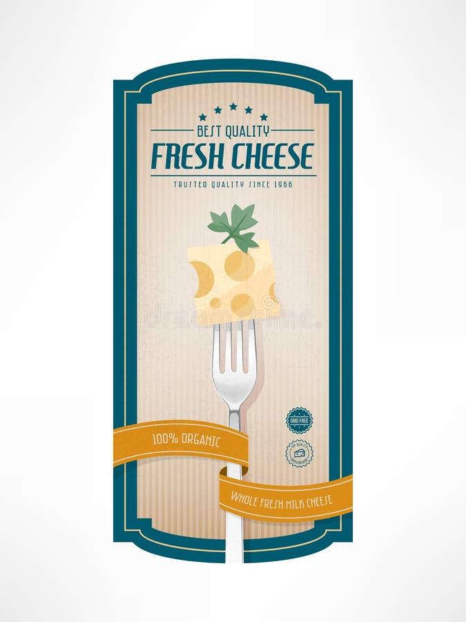 Label de vintage de nourriture illustration libre de droits