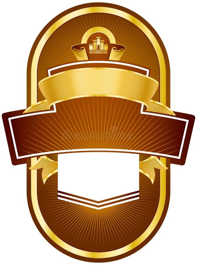 Download Label design stock vector. Image of gold, banner, brown - 19020709
