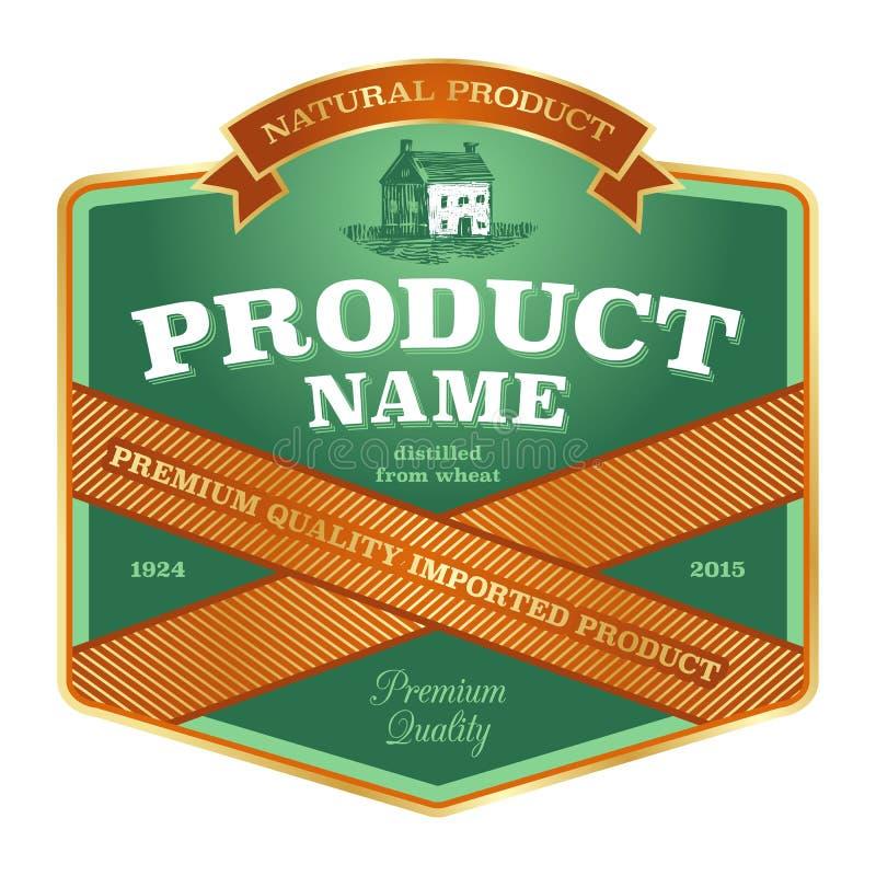 Label design vector illustration