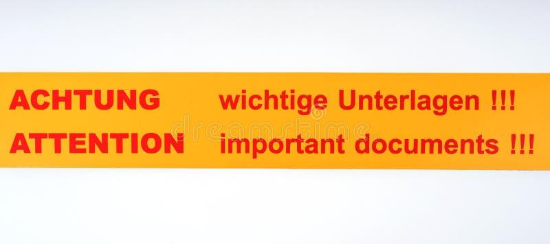 Label - Documents Importants D'attention ! ! ! Photo stock - Image du  étiquette, insigne: 85841468