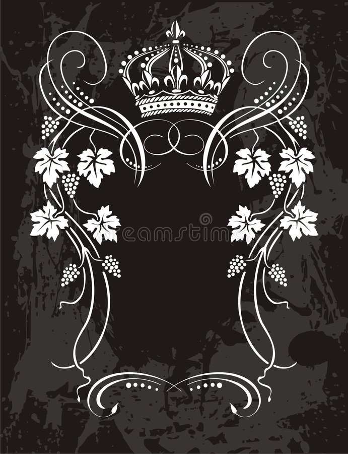 Label element royalty free illustration