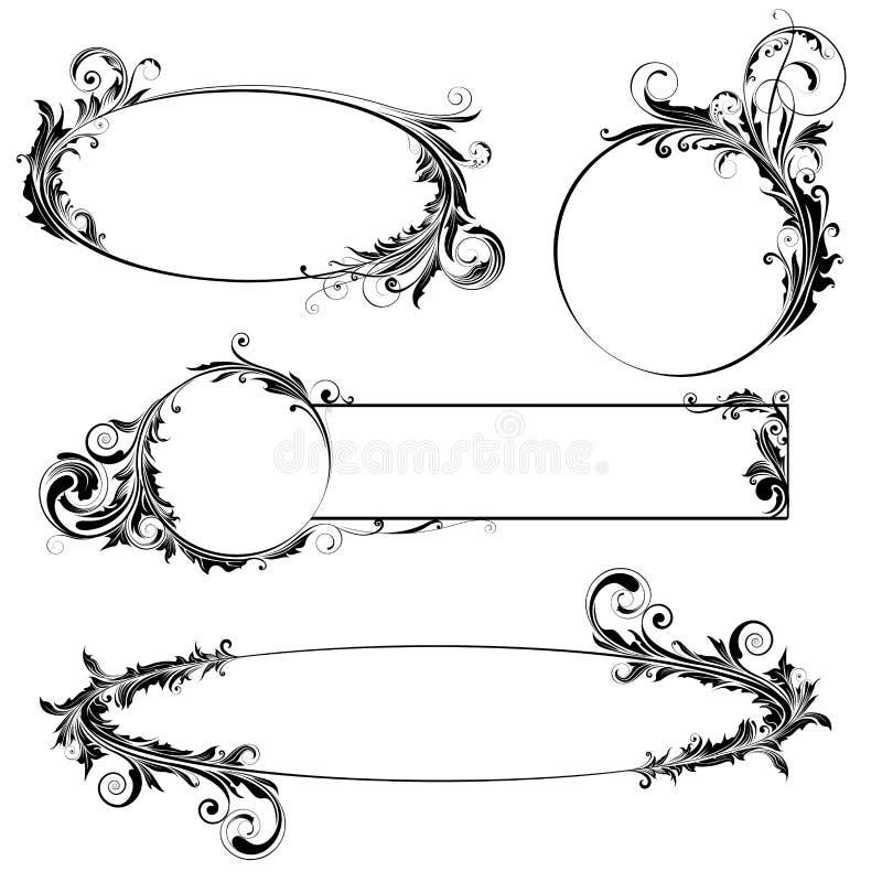 Label floral design vector illustration
