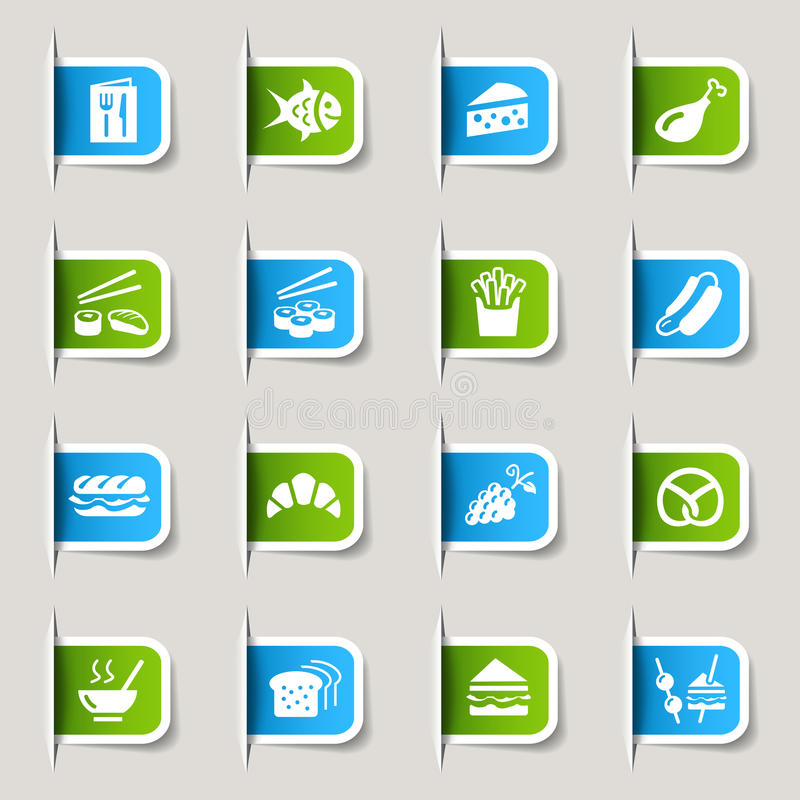 Free Label - Food Icons Stock Images - 23488264