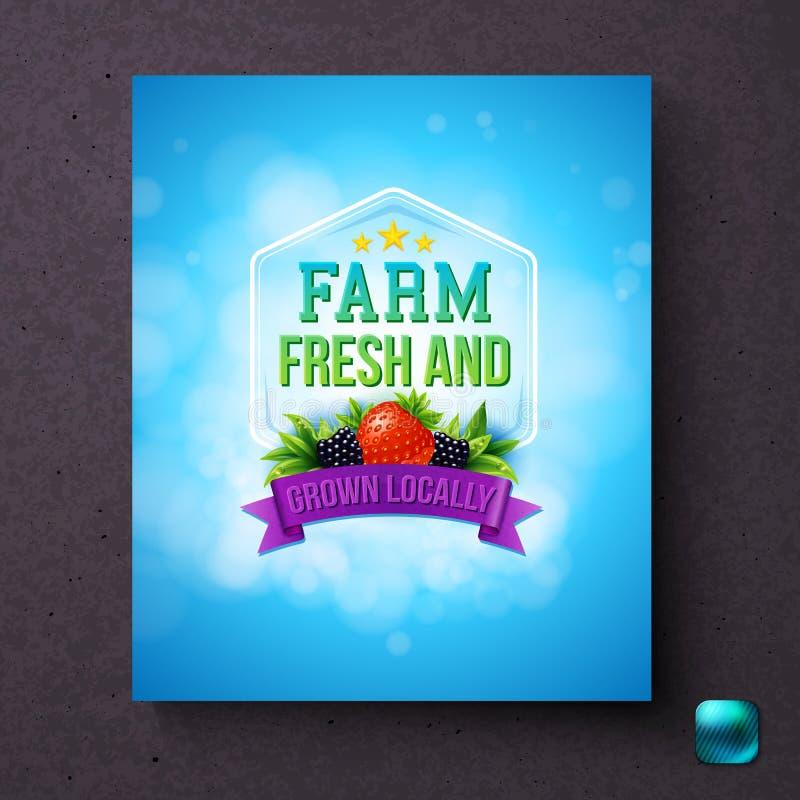 Label générique frais et localement développé de ferme illustration de vecteur