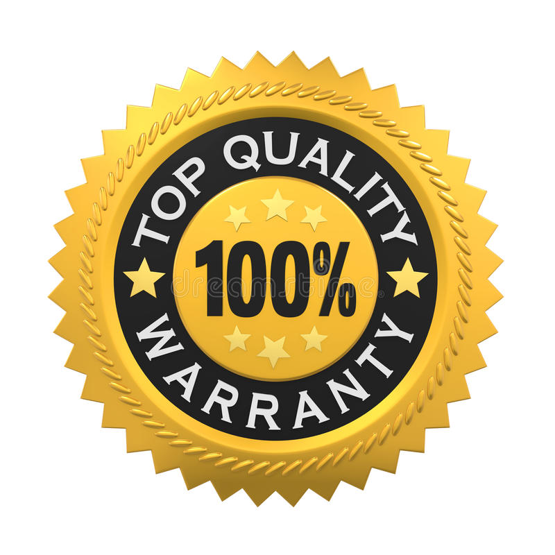 Label garanti par haute qualité d'isolement illustration stock