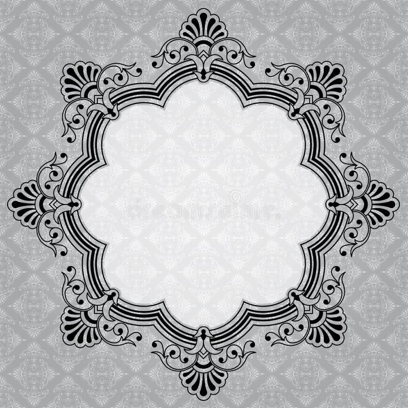 Label gris décoratif rond élégant illustration libre de droits