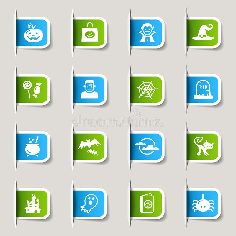 Label - Halloween Icons Royalty Free Stock Image
