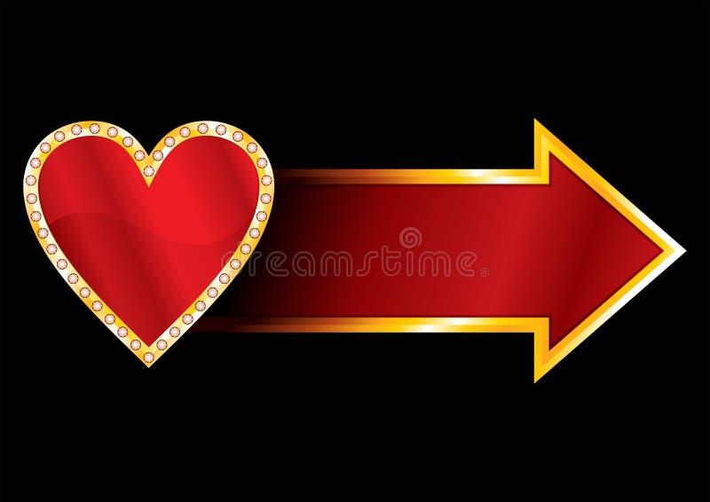 Download Label with heart stock vector. Image of wedding, billboard - 22647583