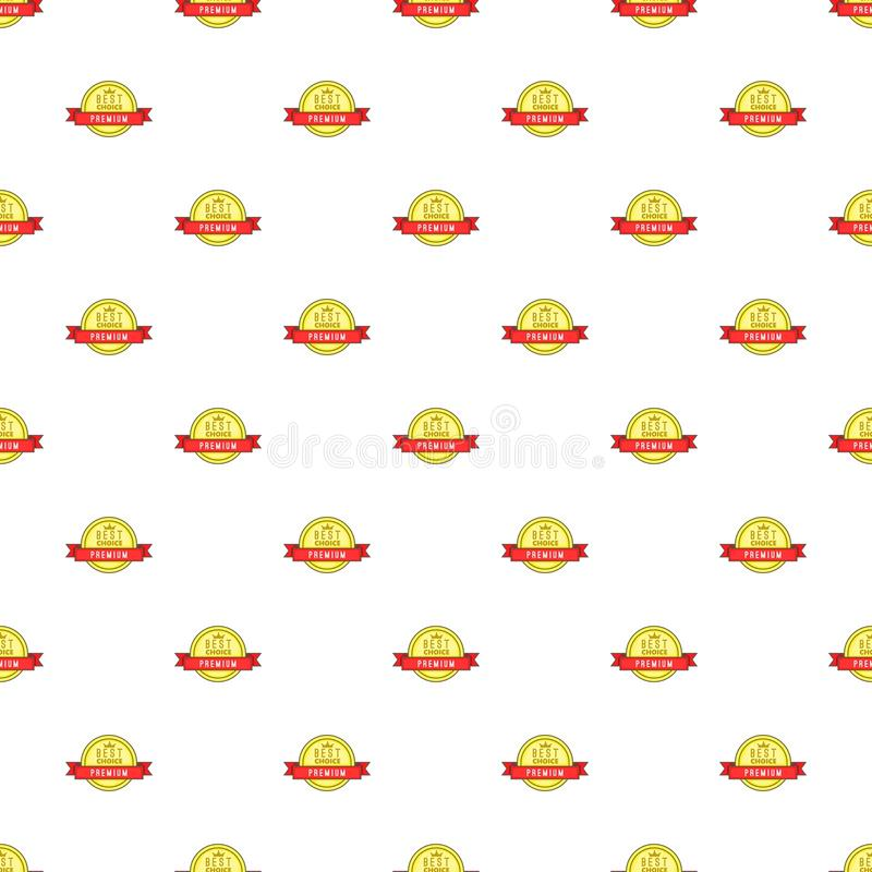 Label high special price pattern, cartoon style. Label high special price pattern. Cartoon illustration of label high special price vector pattern for web royalty free illustration