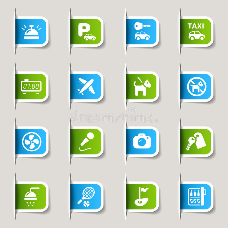 Download Label - Hotel icons stock vector. Image of animal, button - 23488450