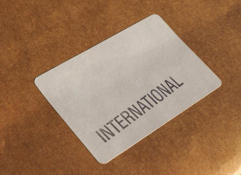 label international de la poste aérienne photos stock