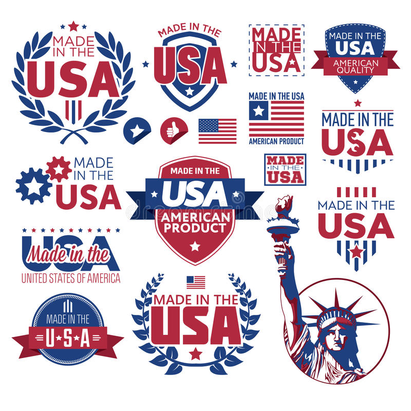Free Label Made In The USA Royalty Free Stock Photos - 47999408