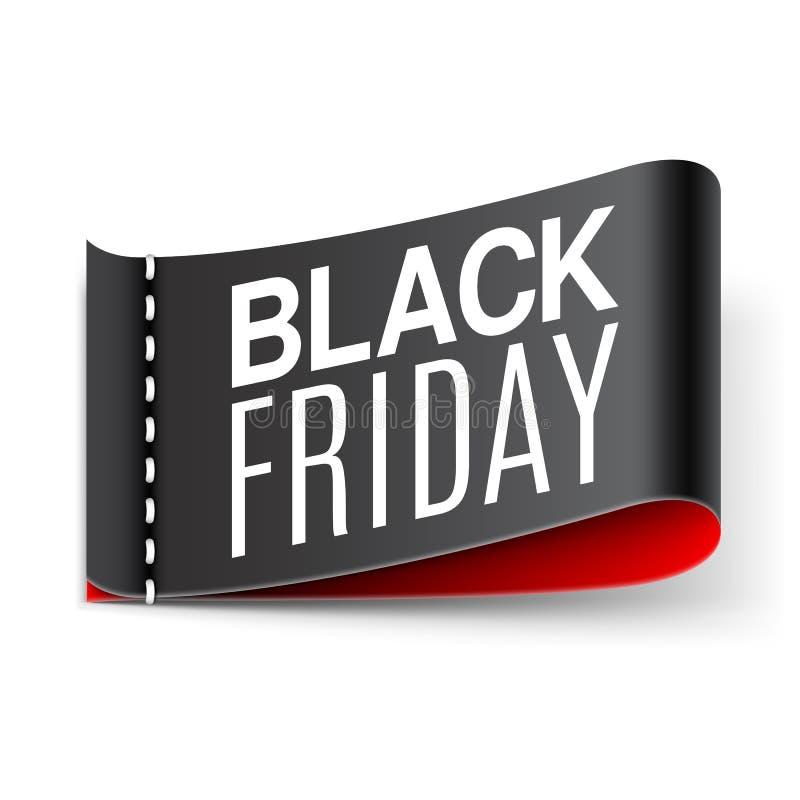 Label noir de vendredi illustration libre de droits