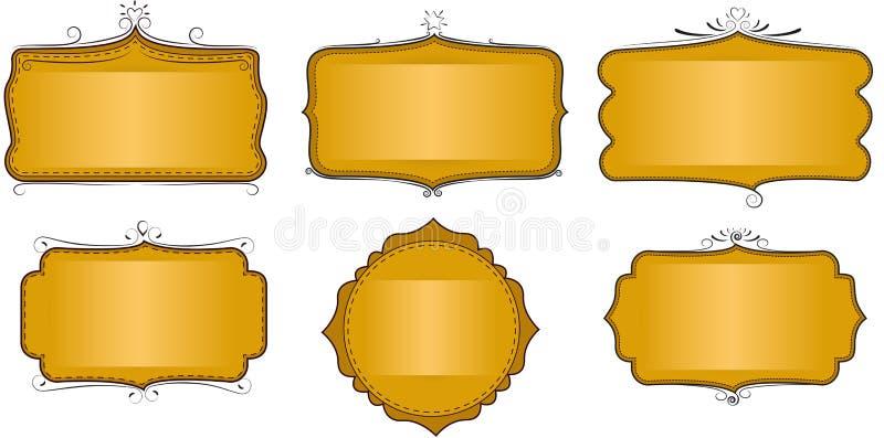 Download Label ou cadre jaune illustration de vecteur. Illustration du signe - 76082017