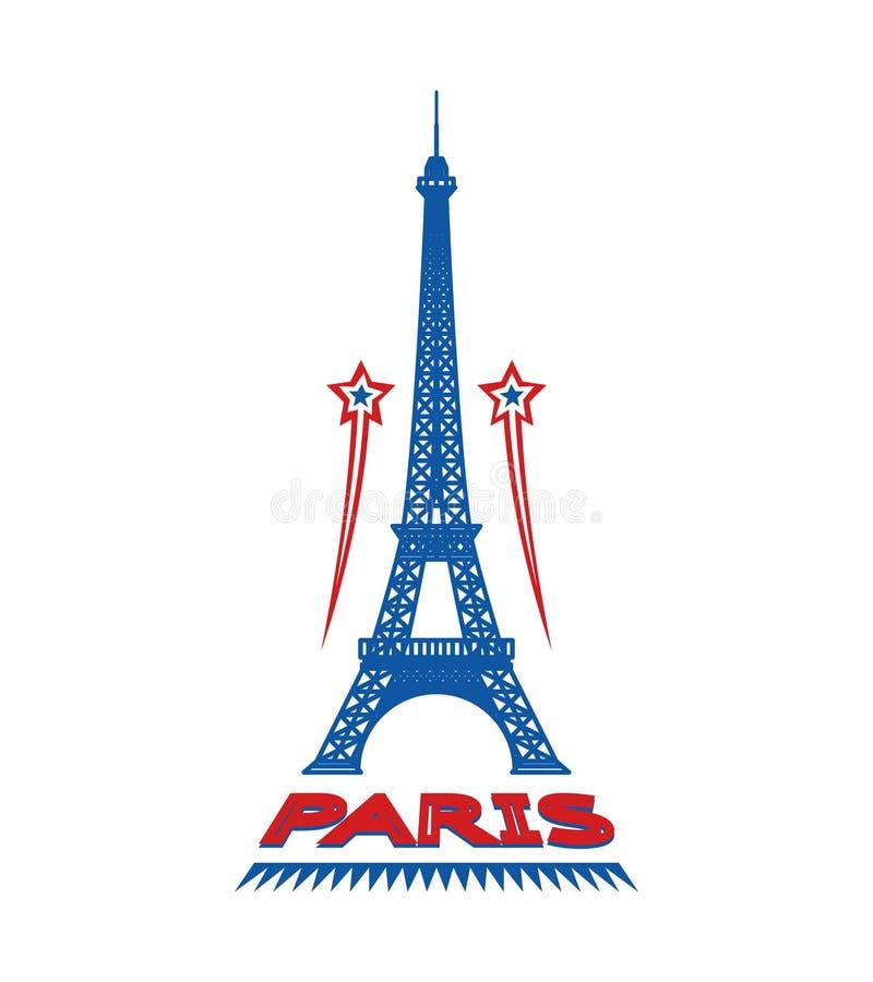 Label ou logo de ville de Frances de Paris illustration libre de droits