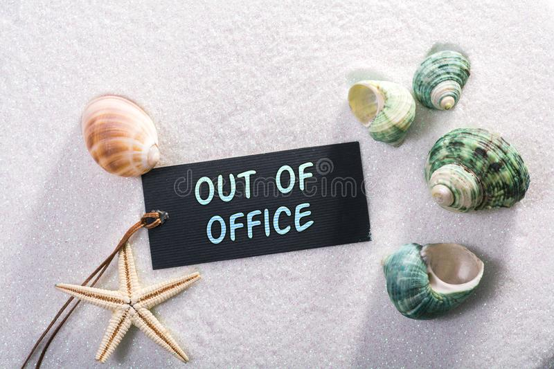 Label with out of office royalty free stock photography