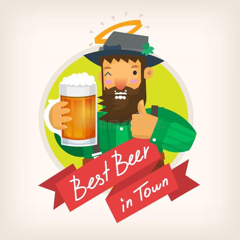 Label pour un bar de bière illustration libre de droits