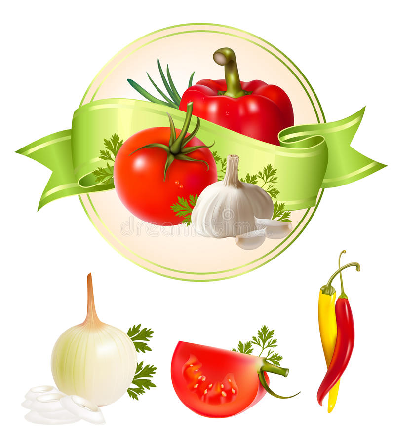 Download Label For A Product. Vegetables. Stock Vector - Image: 13350483
