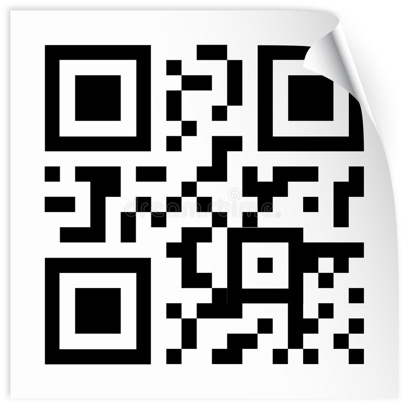 Download Label with qr code stock vector. Image of business, invitation - 19339874