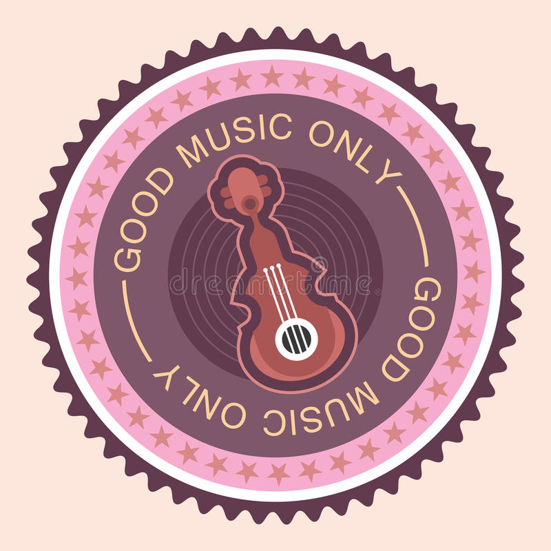 Download Label rond musical illustration de vecteur. Illustration du simple - 45350811