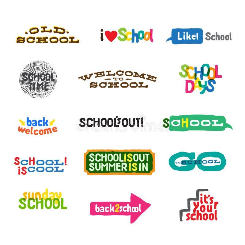 Label - School Icons stock illustration