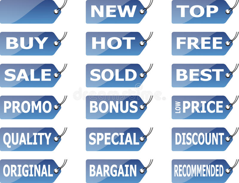 Download Label Set stock vector. Image of consumer, deal, exclusive - 13000012