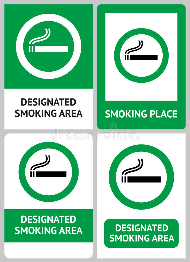 Download Label set Smoking place stock vector. Image of healthcare - 24119469