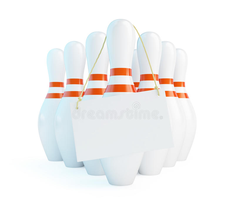 Download Label On Skittles For Bowling Stock Illustration - Image: 30758108