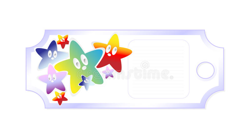 Download Label with the stars stock illustration. Image of green - 25901648