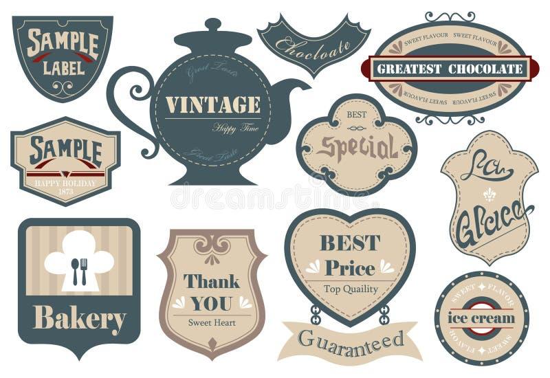 Label&sticker 01 de vintage illustration de vecteur