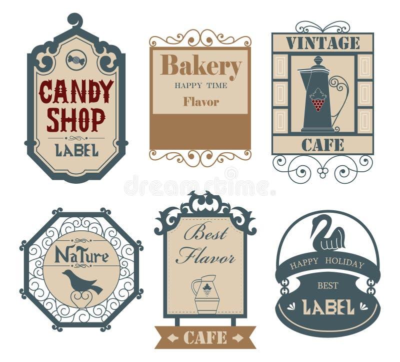 Label&sticker 02 do vintage ilustração stock