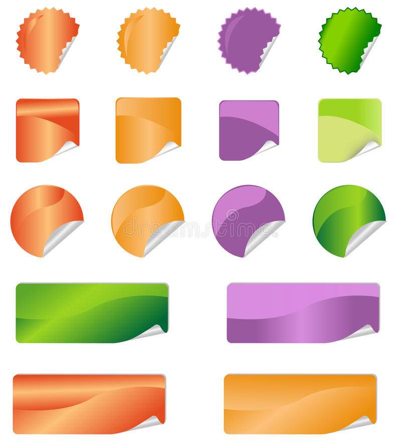 Download Label stickers stock vector. Image of element, internet - 32367589
