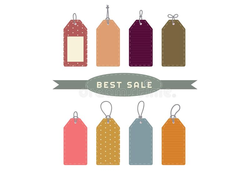 Download Label tags Set stock vector. Illustration of tags, price - 101257454