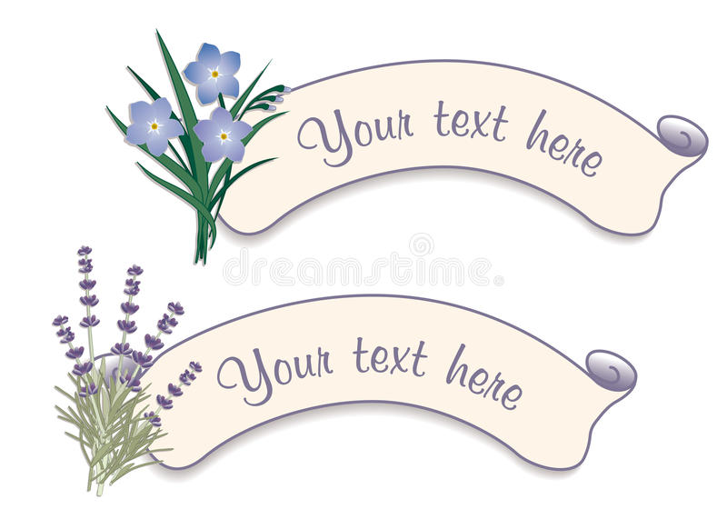 Download Label Tags With Sweet Lavender & Forget Me Nots Stock Vector - Image: 19895958