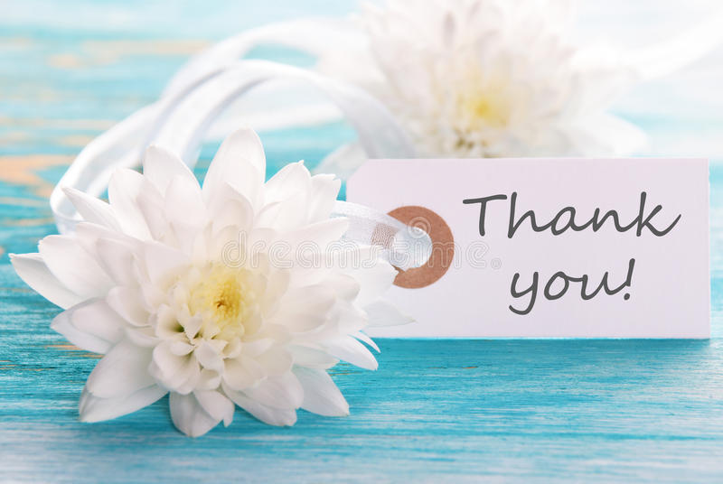 Label with Thank You on It stock photos