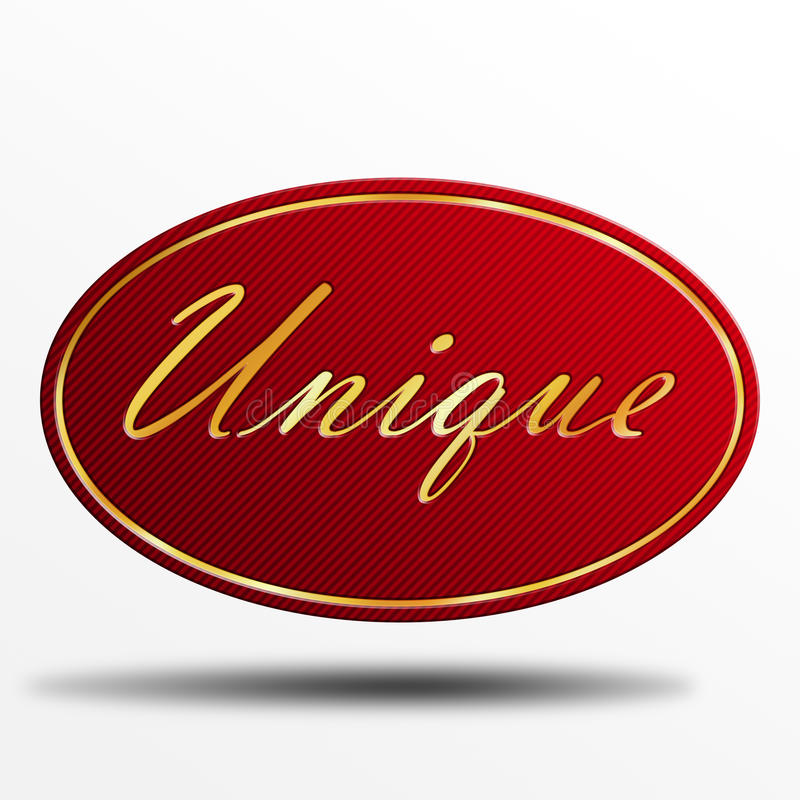 Label Unique Photo libre de droits