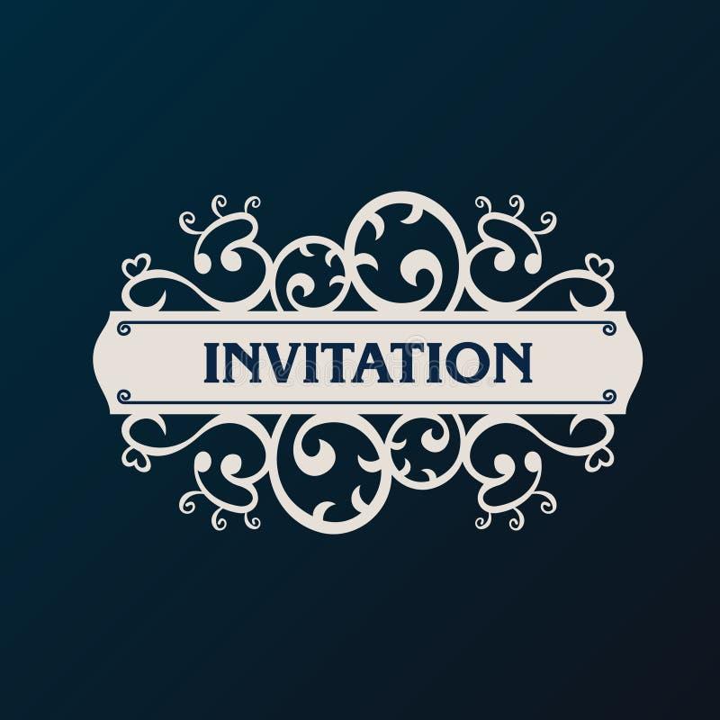 Label vector frame. Vintage banner background royalty free illustration