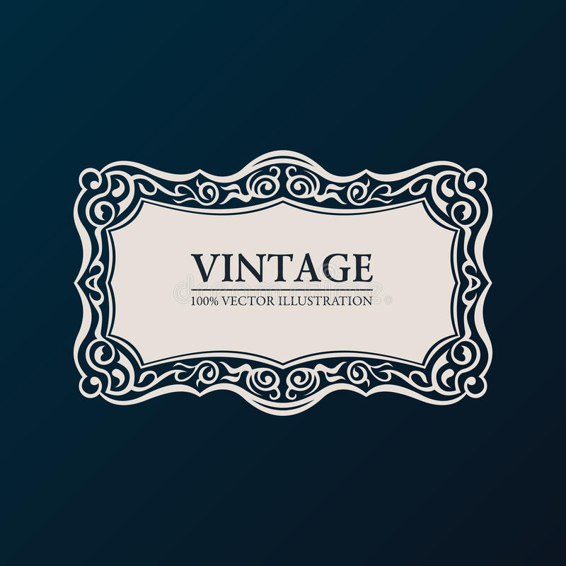 Free Label Vector Framework. Vintage Banner Decor Royalty Free Stock Photos - 44284088