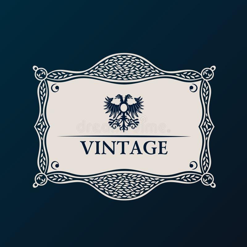 Label vector framework. Vintage tag decor vector illustration