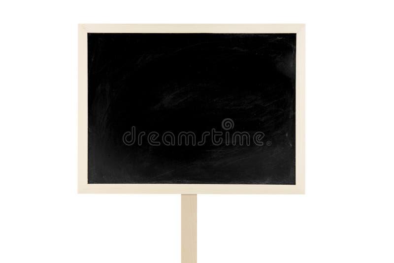 Label vide de tableau noir d'isolement sur un fond blanc images libres de droits