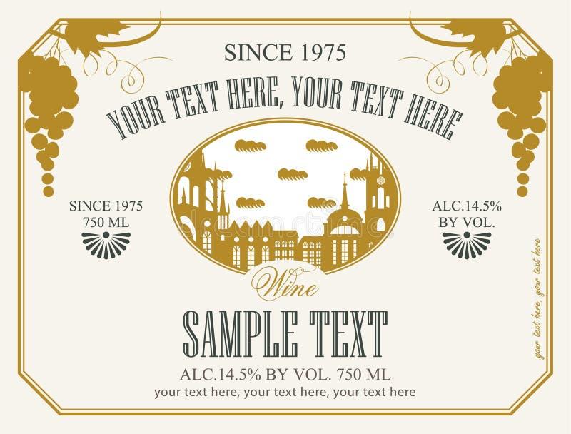 Label for wine stock illustration